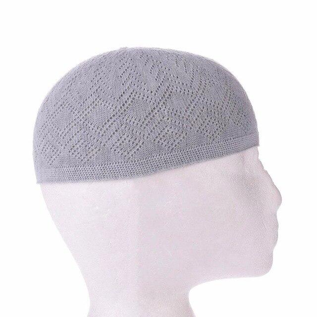 3e9e9c6edc5d3 Muslim Men Prayer Hats Beanie Turkish Arabic knitted Hat Crochet Islamic  Caps 2018