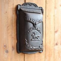 Cowboy Cast Iron Mailbox Metal Mail Box Wall Mount Lockable