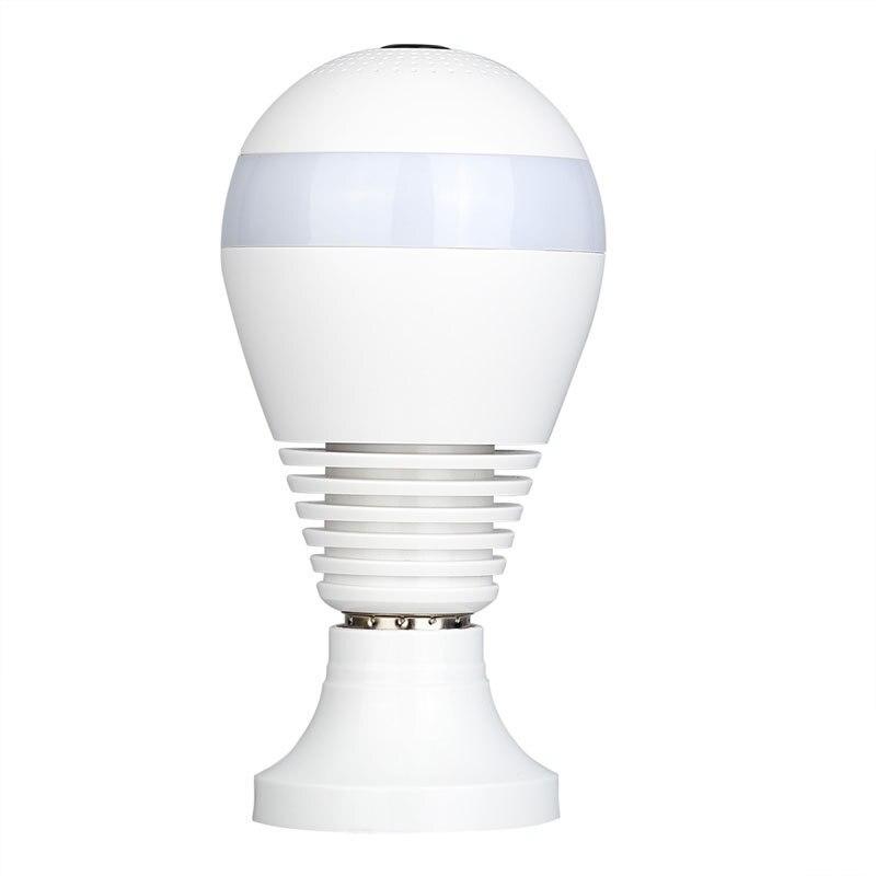 960 P 360 degrés panoramique Led ampoule lumière intelligente sans fil téléphone APP contrôle CCTV 3D VR caméra WiFi FishEye lampe sécurité à domicile #20