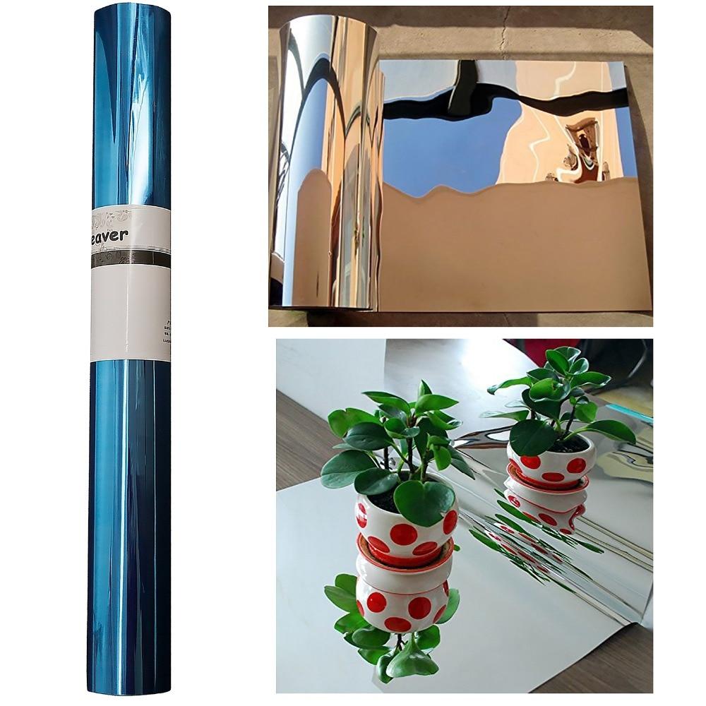 50cmX2m Solar Light Reflective Film Stickers Wallpaper Mirror Waterproof Self Adhesive  Uv Reflective Film / Light Opaque Film