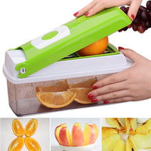 12 Teile/satz Multifunktions Gemüsehobel Schredder Obst Gemüsereiben Kartoffelschäler Chopper Cutter Mandoline Küchenhelfer