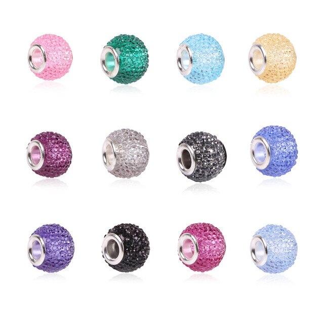 Розничная Мода Белый Бисер Подвески Fit Pandora Подвески Браслеты и Ожерелья Для DIY Женщин украшения