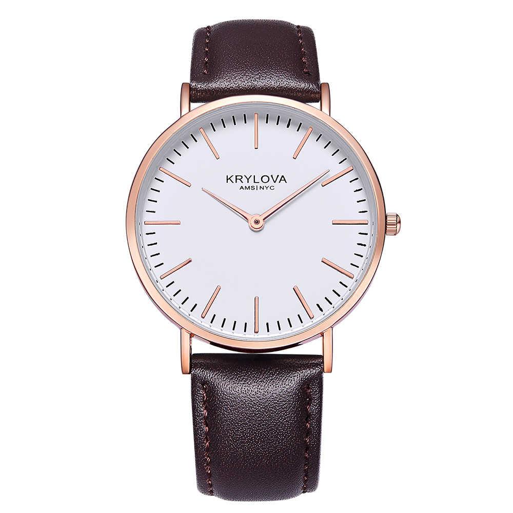 KRYLOVA 2018 אופנה קוורץ שעון בנות שעונים למעלה מותג יוקרה בנות שעון עסקי בנות שעון יד Relogio Masculino
