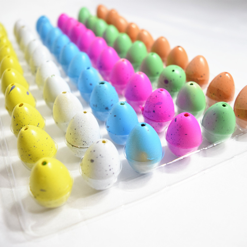 60pcs dinosaur egg expansion toy trumpet puzzle eggs Magic Water Hatching Inflation Growing Dinosaur Eggs Toy Action Figure Toys