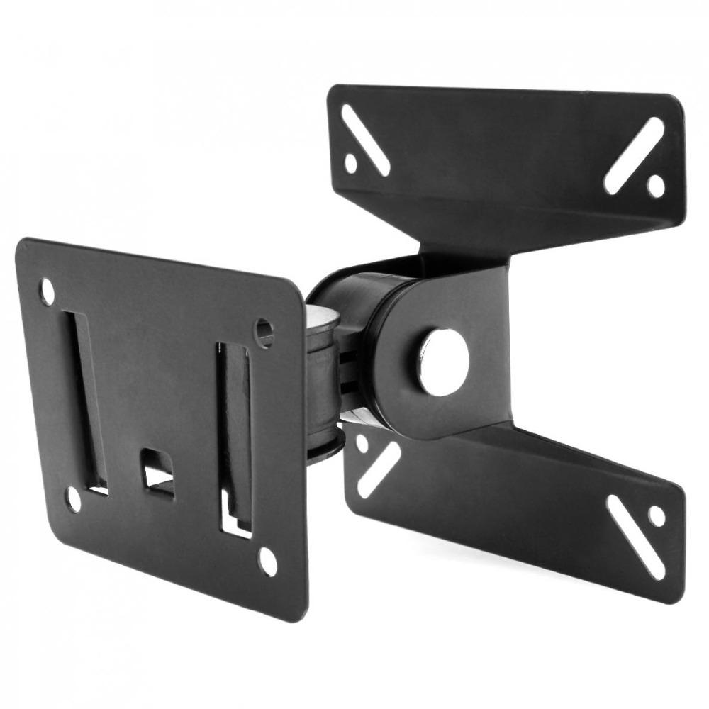 2pcs Universal 180 Degrees Rotated SPHC TV Wall Mount 14-24 Inch LCD LED Falt Pa