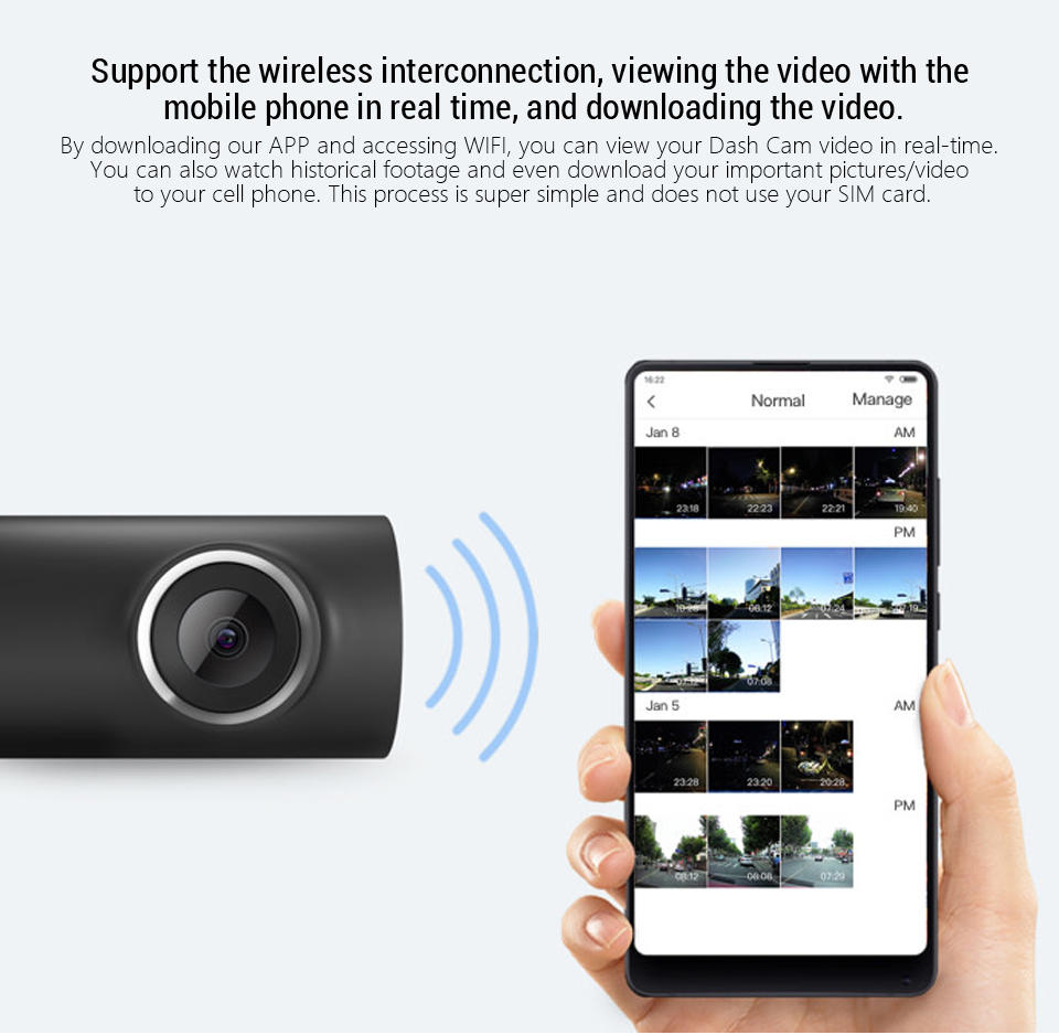 Xiaomi 70mai Dash Cam Wifi Car DVR Camera Full HD 1080P Night Vision English Voice Control 70mai 1S Car Camera Recorder G-sensor
