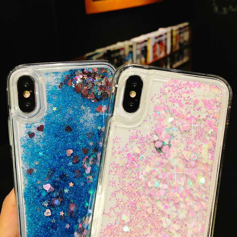 Glitter Liquid Quicksand Phone Case For Huawei P20 P8 P9 lite Soft Silicone Cover On Honor 7C Play 10 8 9 lite 6A 6C Pro