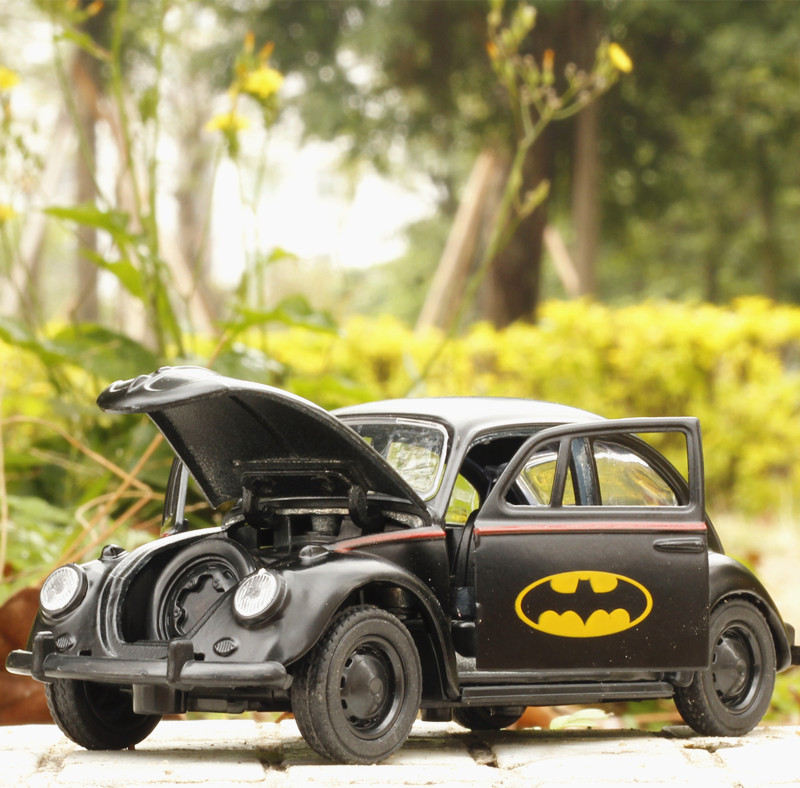 High-simulation-car136-scale-alloy-pull-back-Batman-BeetleCollection-metal-model-toysfree-shipping-1