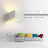 CHICLITS Led Wall Lamp Aluminium Square Rectangle Bedside Bedroom Corridor Stairs Hotel Wall Lights Indoor Home