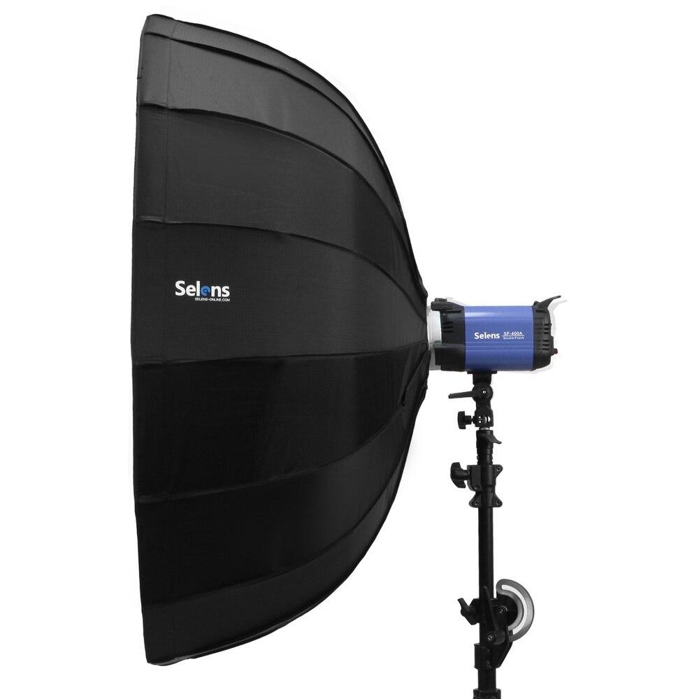 Selens 65 cm/85 cm/105 cm diffuseur réflecteur parabolique parapluie plat de beauté Softbox pour Flash Fotografia boîte à lumière sac de transport