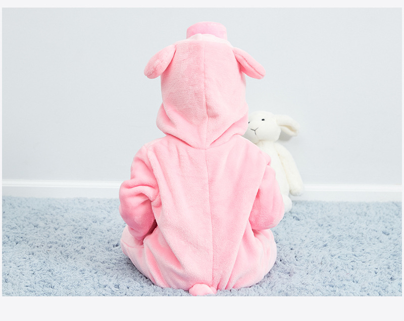 HTB1M2BQR4naK1RjSZFBq6AW7VXao Baby rompers new born baby girls clothes Hooded pajamas mameluco bebe warm winter animal costumes roupas de bebe dropshipping