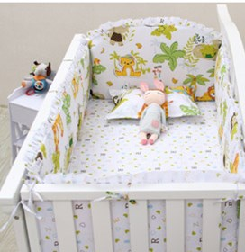 6PCS Crib Baby Bedding Sets Bumper bed cot set Baby Bedding set,(4bumpers+sheet+pillow cover) promotion 6pcs cartoon baby bedding set cotton crib bumper baby cot sets baby bed bumper include bumpers sheet pillow cover