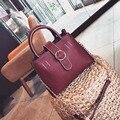 2017 Elegant Capacity OL Stylish Leather Bag Handbag High quality Business Female PU Leather Chain Women Shoulder Messenger Bag