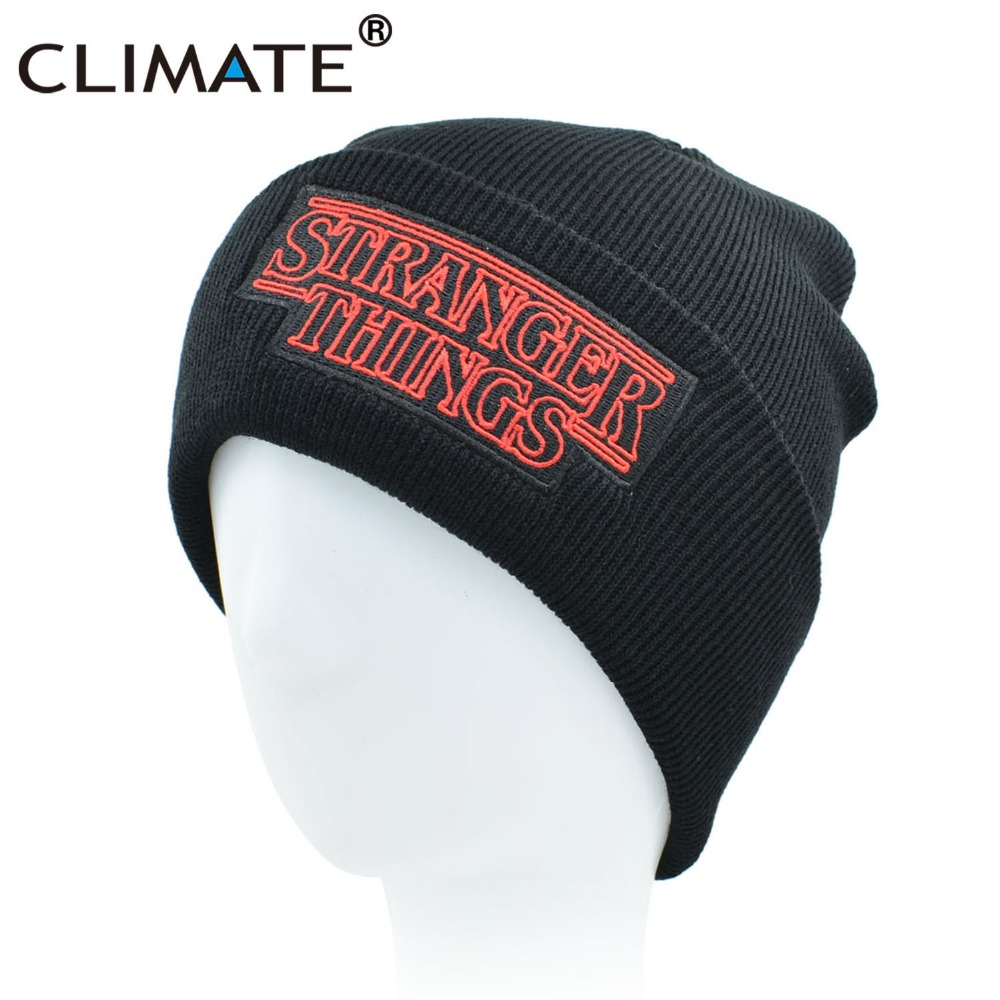 CLIMATE Men Women Teenagers Warm Beanine Winter Hat Dustin Stranger Things Dustin Black Knit Beanie Cap Hat For Men Women Youth
