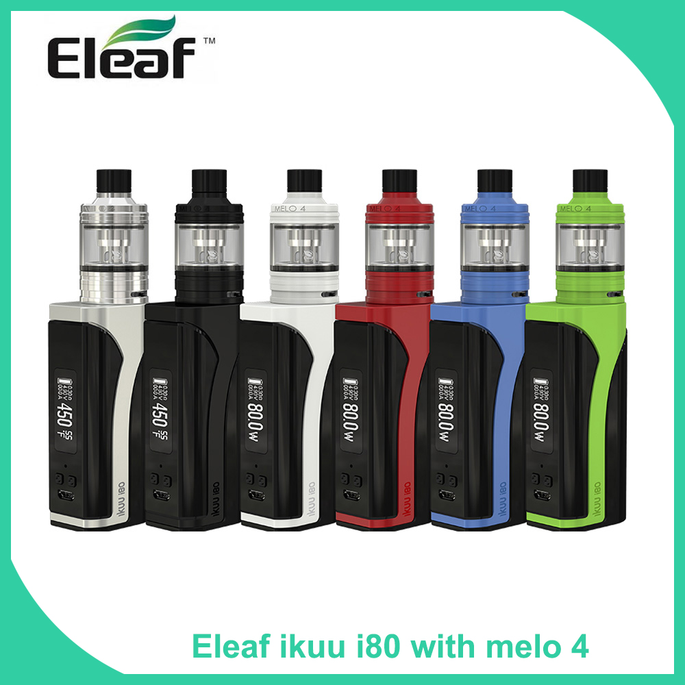 Original Eleaf iKuu i80 with MELO 4 full kit with 2ml 4 5ml E liquid capacity