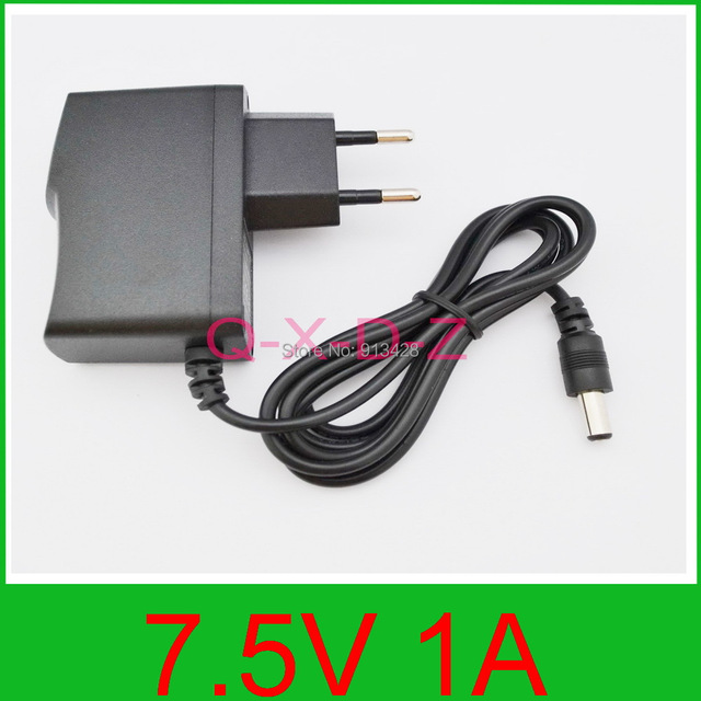 1PCS 7.5V 1A High quality AC 100V-240V Converter Switching power adapter DC 7.5V 1A 1000mA Supply EU Plug DC 5.5mm x 2.1mm