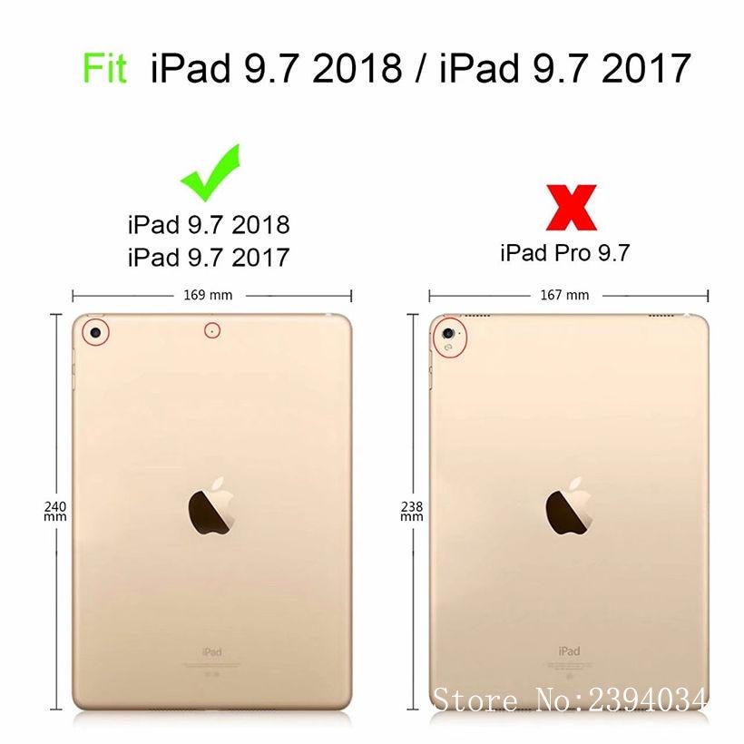 Apple üçün moda boyalı Case Cover New iPad 9.7 2017 2018 5-ci - Planşet aksesuarları - Fotoqrafiya 2