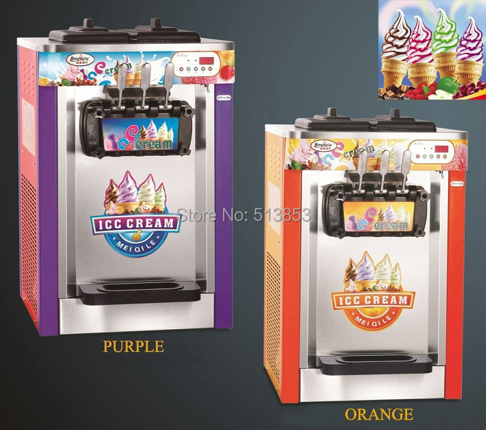 Ice Cream Maker/ snack food machine / Ice Cream  Machine 22~25 liters/H for amusement park fast food leisure fast food equipment stainless steel gas fryer 3l spanish churro maker machine