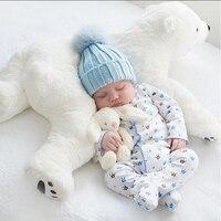 Babies Bedding Little Polar Bear Pillow Room Toy Side Sleep Pro Children Headrest Crib Sleeper Protector