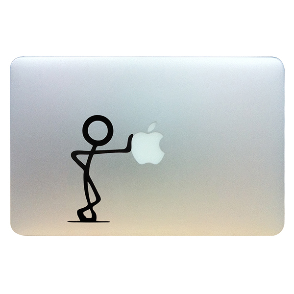 Sticker bonhomme for macbook pro air 13 funny vinyl decal for apple laptop