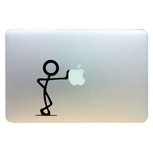 "Sticker ""Bonhomme"" for Macbook Pro Air 13 "" Funny Vinyl Decal for Apple Laptop Art Decoration Christmas Gift"
