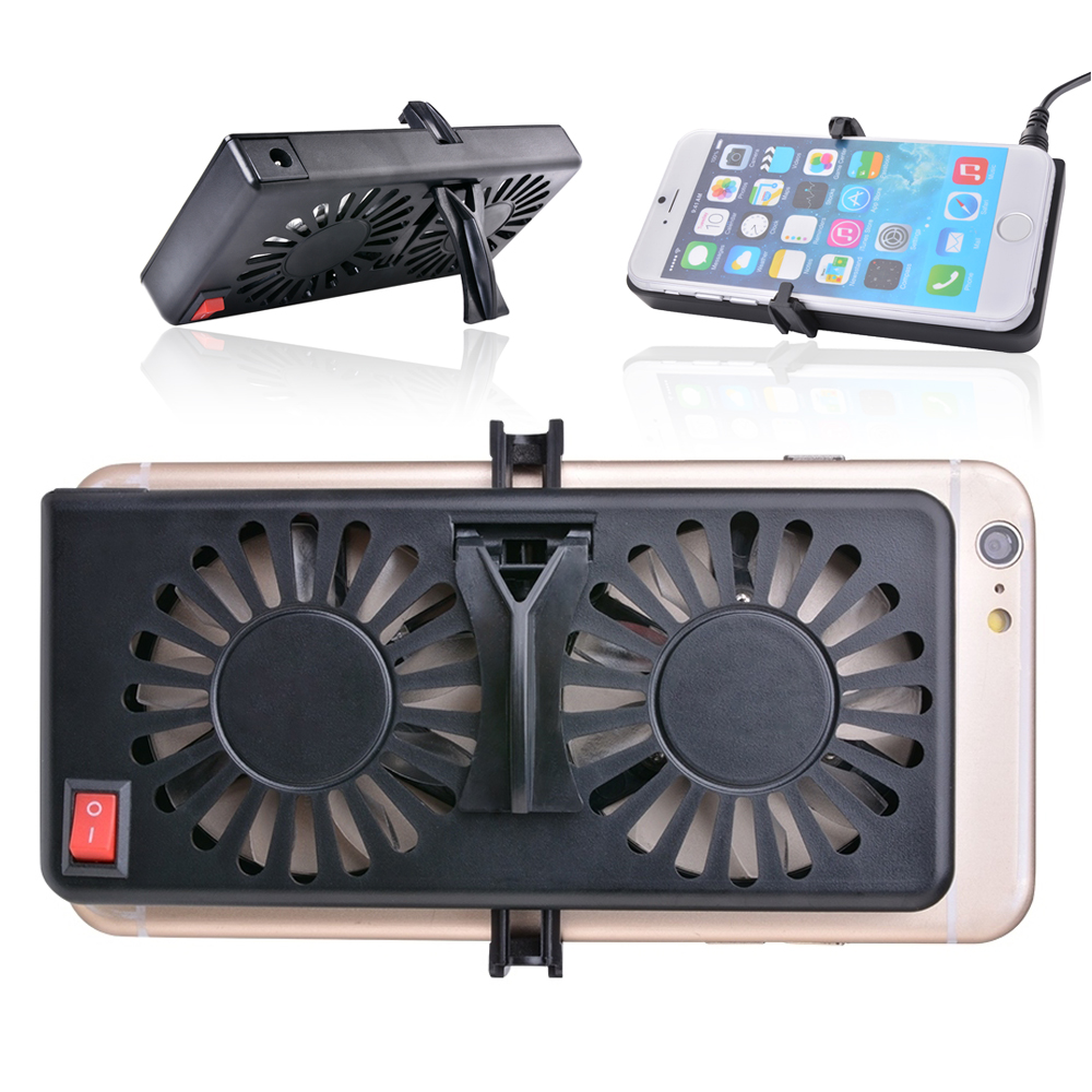 Adjustable USB Cooler Cooling Fan Pad Holder Stand Heatsink for Cell Phone AC543