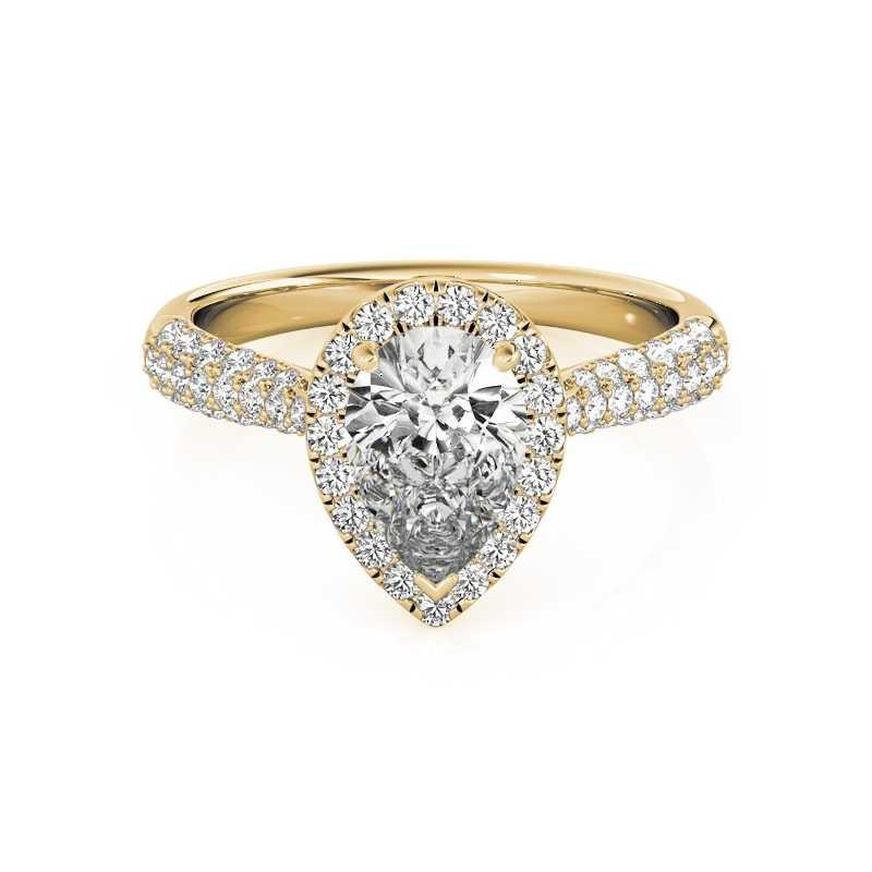 LESF кольцо из стерлингового серебра 925 Роскошные 2 карат циркония свадебные кольца для Для женщин Обручение кольцо Поддержка настройки под индивидуальные нужды