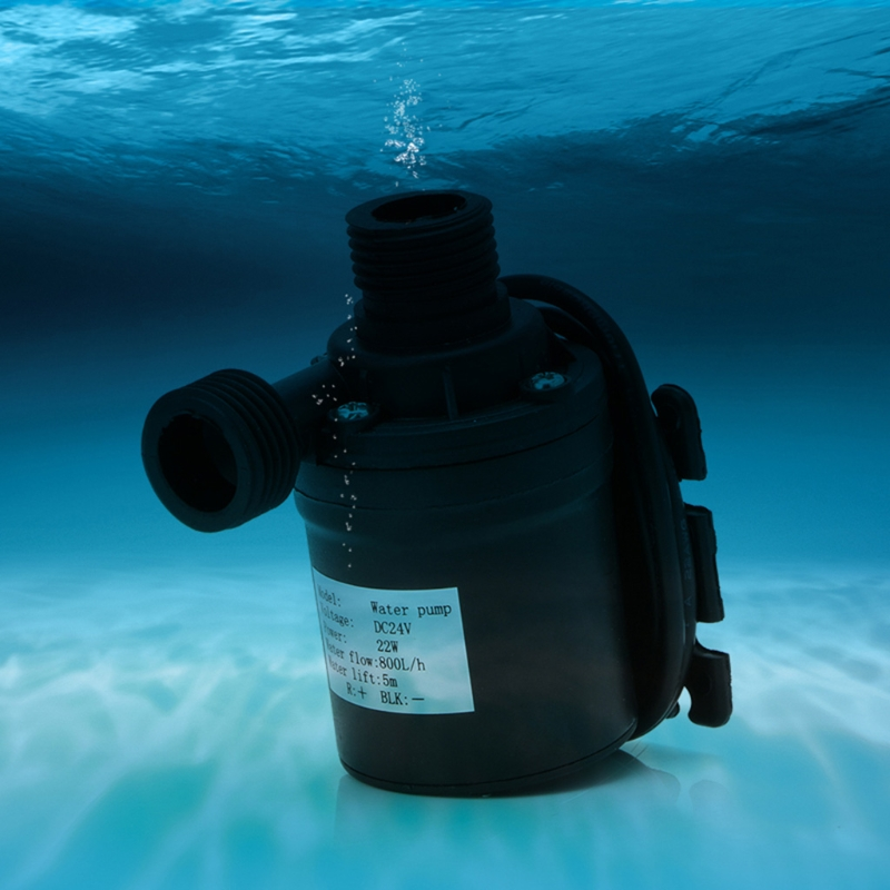 800L/H 5m DC 24V Solar Water Heater Brushless Motor Circulation Water Pump
