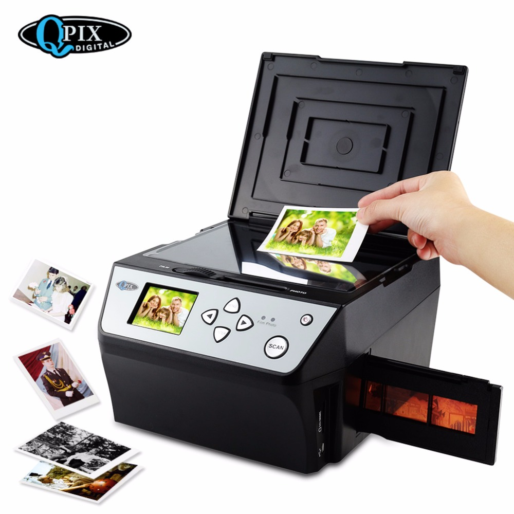 все цены на Hot 22 Mega Pixels 4 in 1 COMBO Photo and Digital Film Scanner 135 Negative Converter Photo Film Scanner Business Card Scanner онлайн