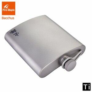 Image 2 - Fogo de bordo titânio hip flask bacchus 200ml 88g drinkware ultraleve escalada caminhadas acampamento ao ar livre uísque flagon
