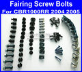 Motorcycle Fairing common screws bolt for Hona CBR1000RR 2005 2004 CBR 1000RR 05 04 CBR 1000 black fairings bolts screw pa