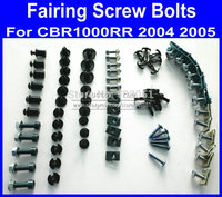 Motorcycle Fairing common screws bolt for Hona CBR1000RR 2005 2004 CBR 1000RR 05 04 CBR 1000 black fairings bolts screw pa