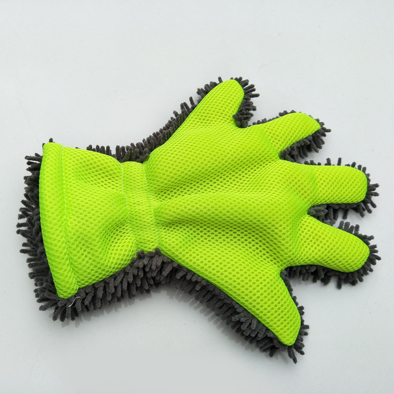 high quality Car Wash Glove thicken Cleaning 5 finger car wash glove Household cleaning Water Absorption Detailing Dust cleaner