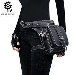 Gear Duke Vintage Steampunk Bag Retro Rock Gothic Retro Bag Goth Shoulder Waist Bags Packs Victorian Style Women Men Leg Bag