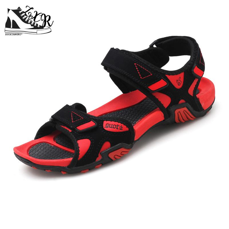 Brand Leather Summer Soft Male Sandals Shoes For Men Breathable Light Beach Casual Quality Walking Sandal