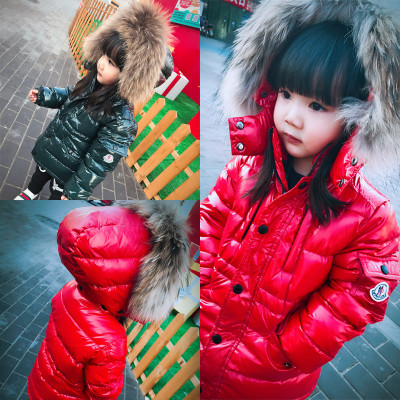 2-10 2016 WINTER KIDS SOLID COLOR DOWN COAT HIGH QUALITY WHITE DOWN JACKETS COAT KIDS OUTWEARS CHILDREN CLOTHING HIGH QUALITY