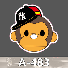 A 483 Monkey Waterproof Fashion Cool DIY Stickers For Laptop font b Luggage b font Fridge