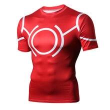 eb5f63bfb79 Мой герой колледж креативный рисунок спортивные лосины одежда для фитнеса  Бег Рубашка мужские обтягивающие рубашки тренажерный з.