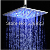 Free Shipping Contemporary Colors Changing LED 8 Rain Shower Head Top Sprayer