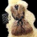 Плюс Размер 2016 Новых Женщин Искусственного Меха Смесь Жилеты Женщин зимние пальто куртки Жилет Жилет Дамы Длинные Без Рукавов Весте Старинных