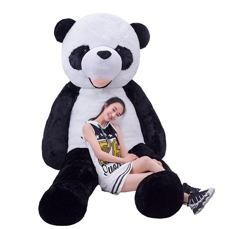 CHAUDE 180 cm en peluche panda peau manteau grand animal peau cadeaux d'anniversaire cadeaux De Noël jouets en peluche poupée - 2