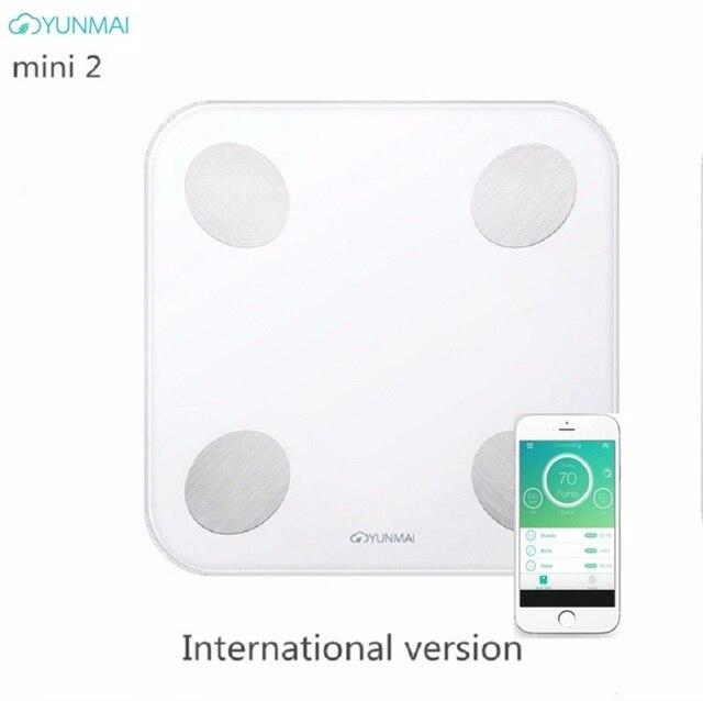nieuwe yunmai balans mini 2 smart weegschaal digitale lichaamsvet