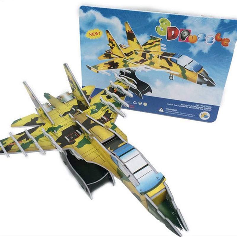 Starz DIY 3D Paper Armaments Fighter Vehicles Tank Helicopters Puzzles Toys Model Craft Building Kits Gifts for Kids