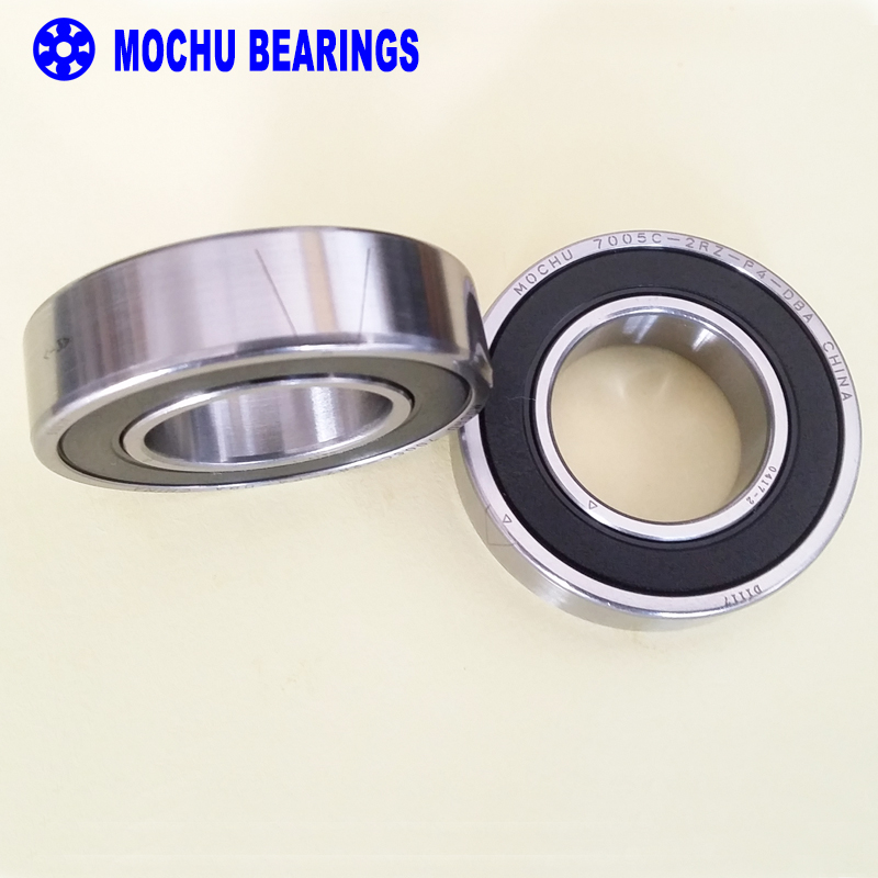 1 Pair MOCHU 7005 7005C 2RZ P4 DB A 25x47x12 25x47x24 Sealed Angular Contact Bearings Speed Spindle Bearings CNC ABEC-7 1pcs mochu 7005 7005c 7005c p5 25x47x12 angular contact bearings spindle bearings cnc abec 5