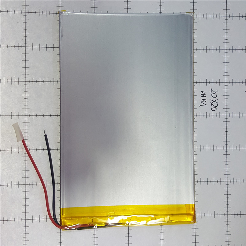 lithium polymer <font><b>battery</b></font> 3x120x80mm <font><b>3.7v</b></font> <font><b>4000mah</b></font> tablet <font><b>battery</b></font> 2 wire image