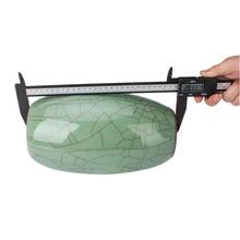 On sale New 200MM Carbon Fiber Plastic LCD Digital Display Electronic Vernier Caliper Gauge Micrometer Measuring Tool
