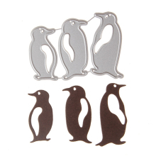 Три пингвина Скрапбукинг DIY форма цветка острый Металл углеродистая сталь высечки книга фотоальбом художественная карточка высечки