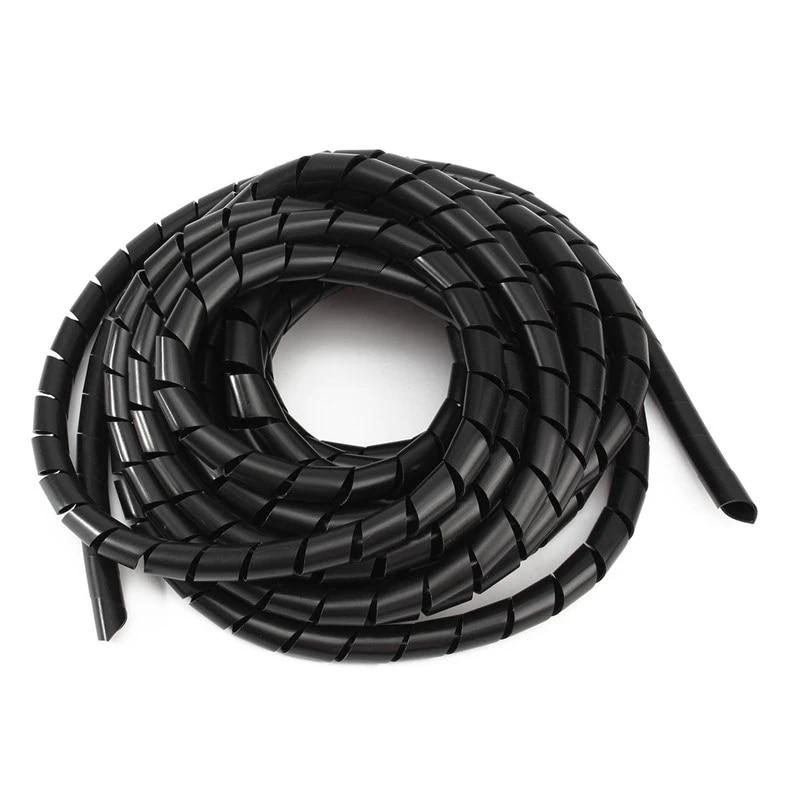 6 5m 12mm Gaine Tube Spirale Gamme Cache Câble Cordon Fil Organisateur Pc Tv Haute Qualité Aliexpress