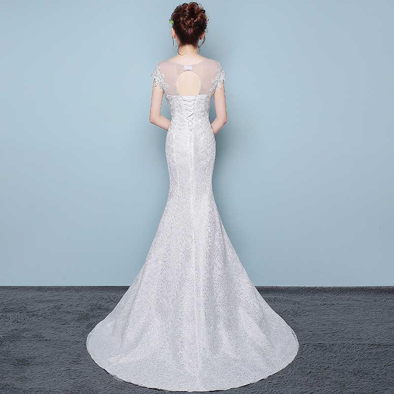 d243bf74b9f6 ... New Fashion Classic Simple Elegant Beautiful Lace Flowers Mermaid  Wedding Dresses Vestidos De Noiva Robe De ...