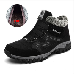 New Men Winter Boots With Plush Warm Snow Boots Casual Men Winter Boots Work Shoes Men Footwear Fashion Ankle Boots 39-46